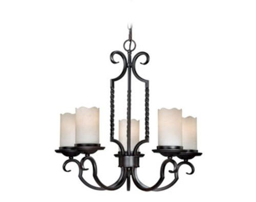 Vesper 5 Light 24 Vintage Black Chandelier At Menards