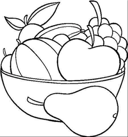 Coloring pages fruit and vegetables 9