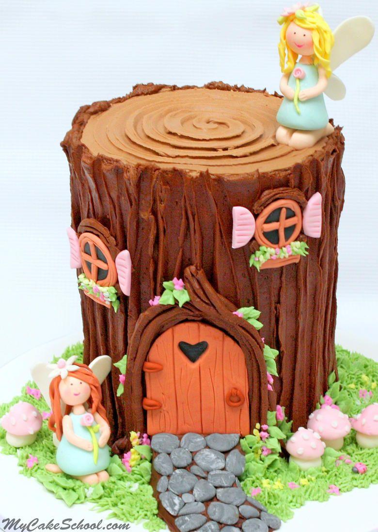Fairy House Tree Stump Cake Video Creative Cake