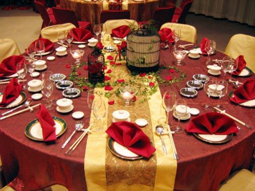 Chinese Wedding Reception Table Decor Parties Pinterest