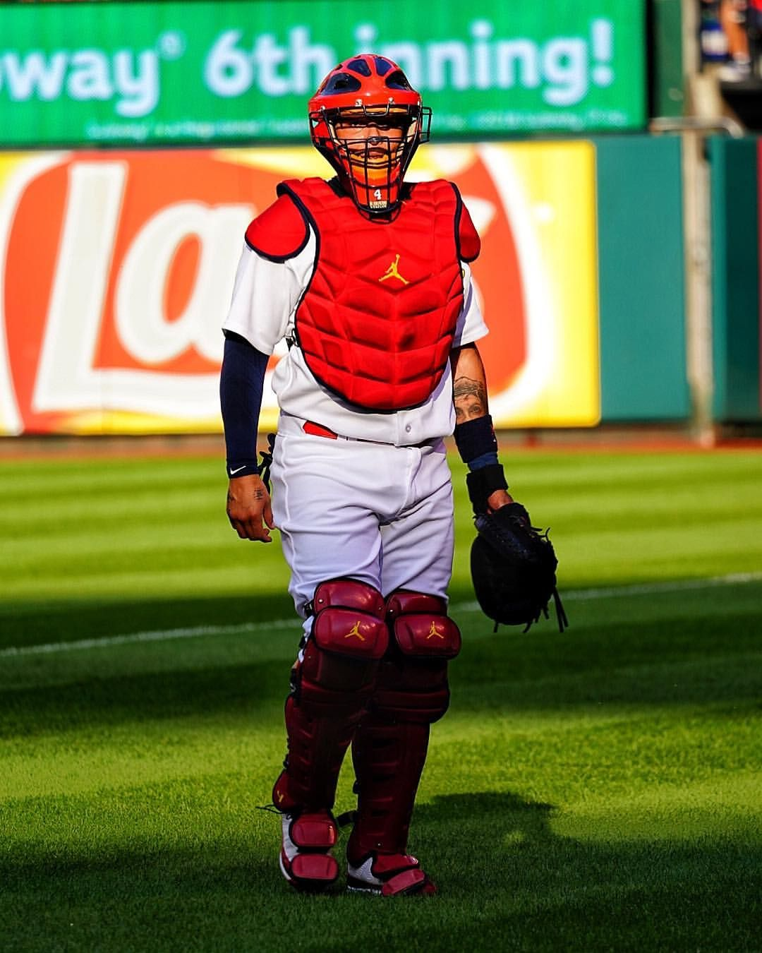 The Energizer Yadi Is Starting His 24th Consecutive Game At Catcher Tonight Adding To His Mlb Record For Catchers Ag Famous Baseball Players Mlb Cardinals