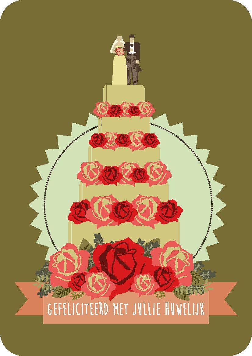 Gefeliciteerd Met Jullie Huwelijk Grappig : Postkaart gefeliciteerd met jullie huwelijk