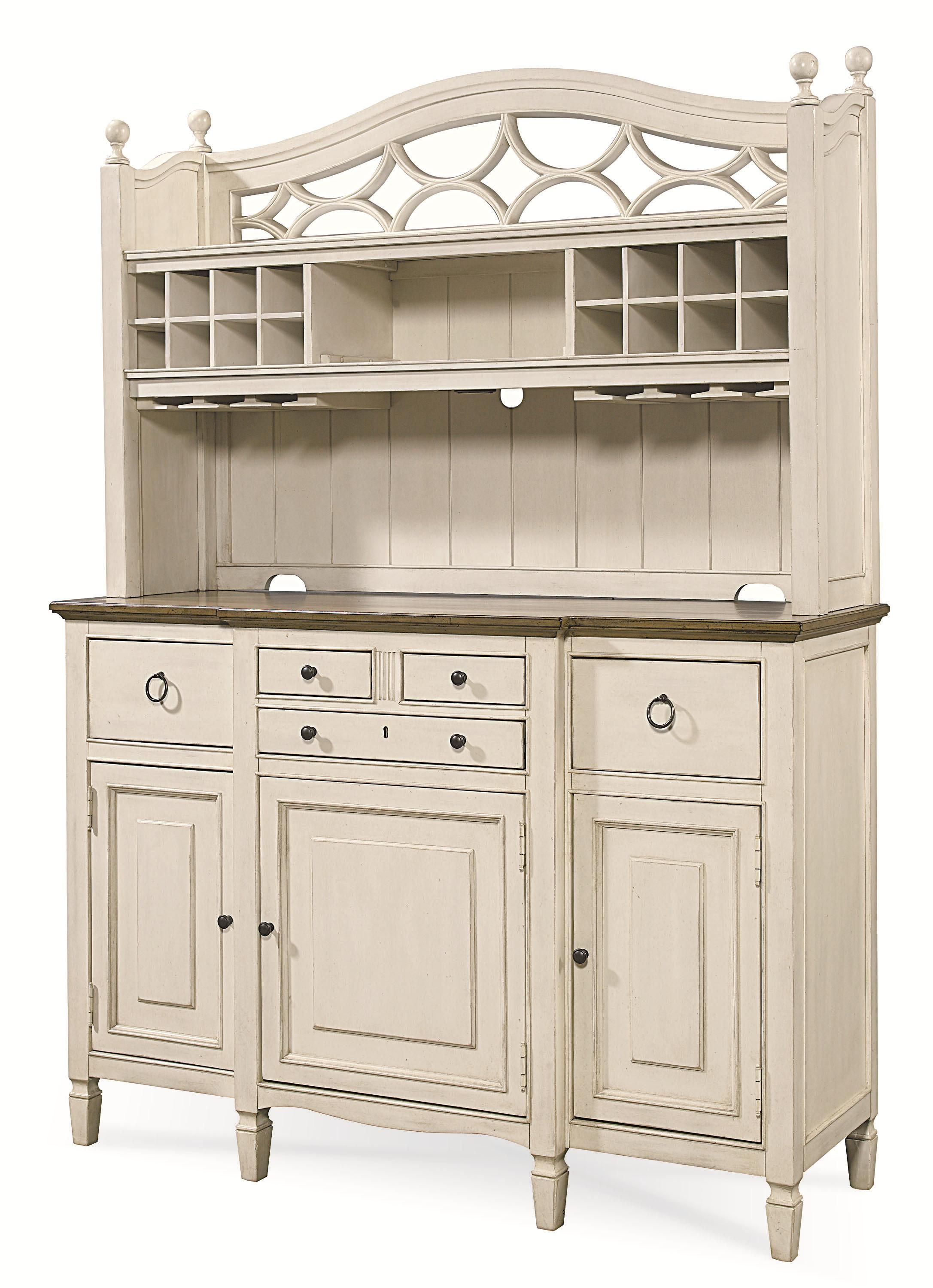 Summer Hill 2 Pc Serving Buffet And Bar Hutch With Wine Storage By Universal Dining Room CabinetsBar