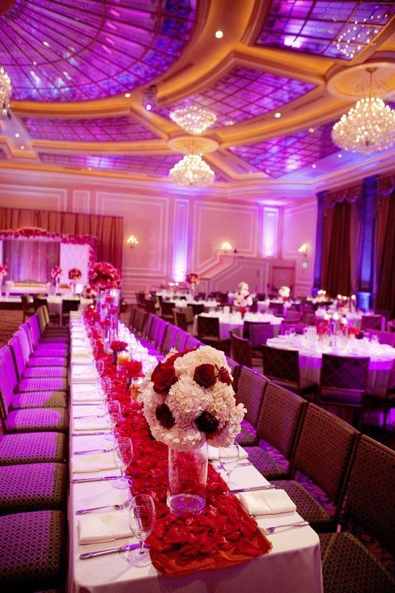Red Carpet Glam Wedding Decor. #weddingreceptiondecor ...