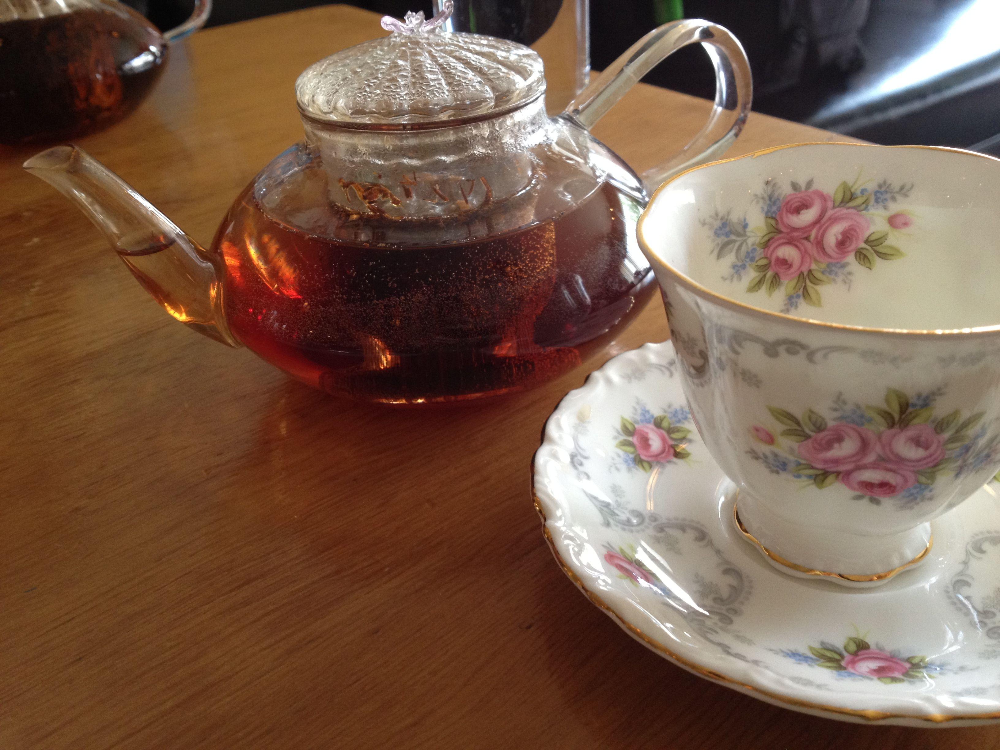 "Tea at ""The Hollows"", Saskatoon, Saskatchewan."