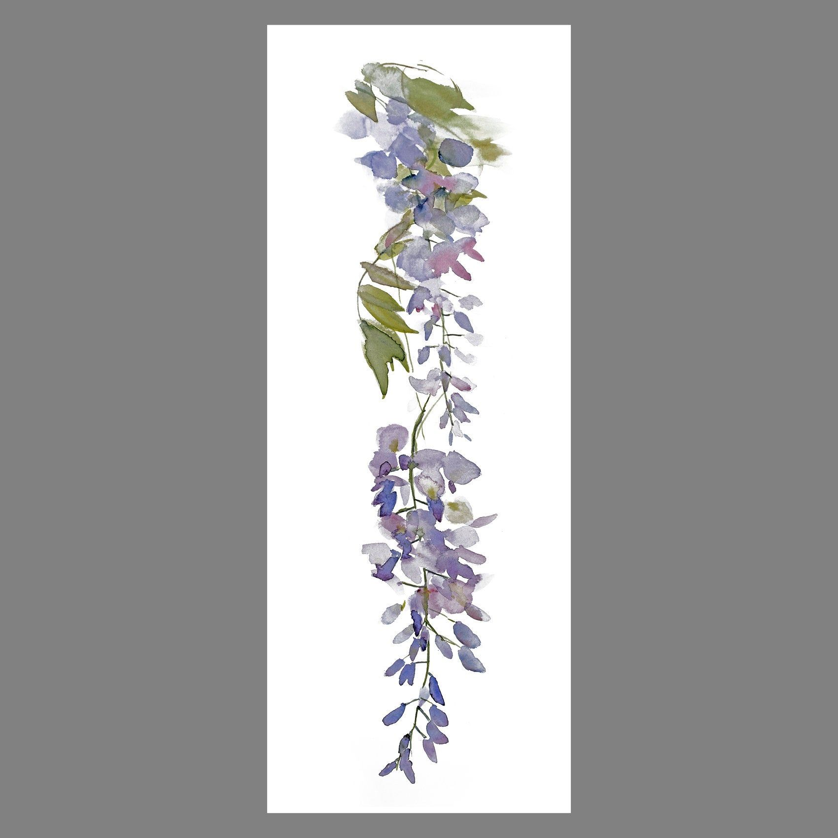 Wisteria 5 Tall Vertical Print Of Original Artwork Narrow Etsy Fine Art Giclee Prints Original Artwork Nursery Paintings