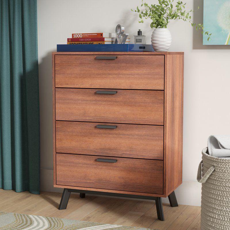 Sheyla 4 Drawer Chest Living Room Storage Solutions Modern Dresser Furniture #storage #dresser #for #living #room