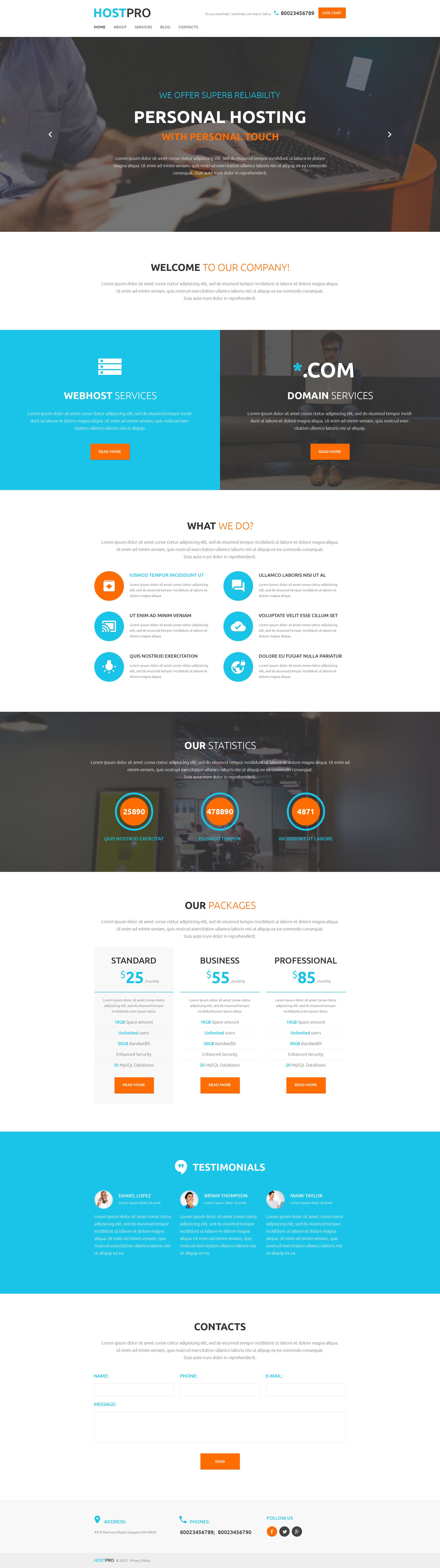 Wordpress Theme for Hosting Companies | Wordpress Theme | Pinterest ...