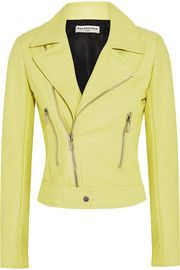 ec6d287f58e0 Yellow is not one of my favorite colors but I LOVE this Balenciaga Leather  biker jacket