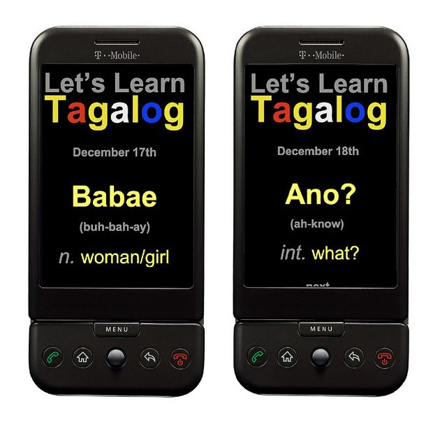 Let's Learn Tagalog Phone App. Created in in
