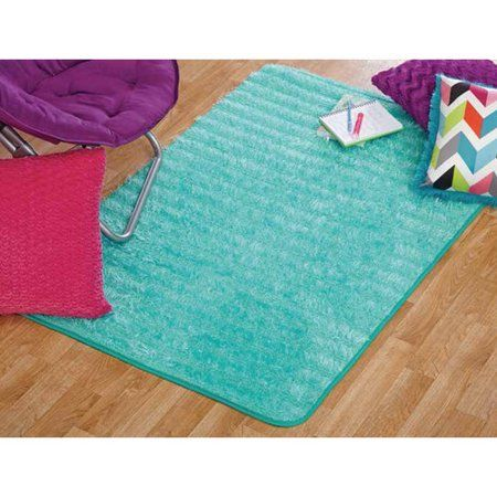 Your Zone Lacey Fur Rug Spearmint 3 X 4 8 Inch Size 36