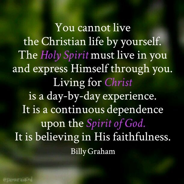 Quotes About The Holy Spirit New Billy Graham  Christian Living  Pinterest  Billy Graham Graham