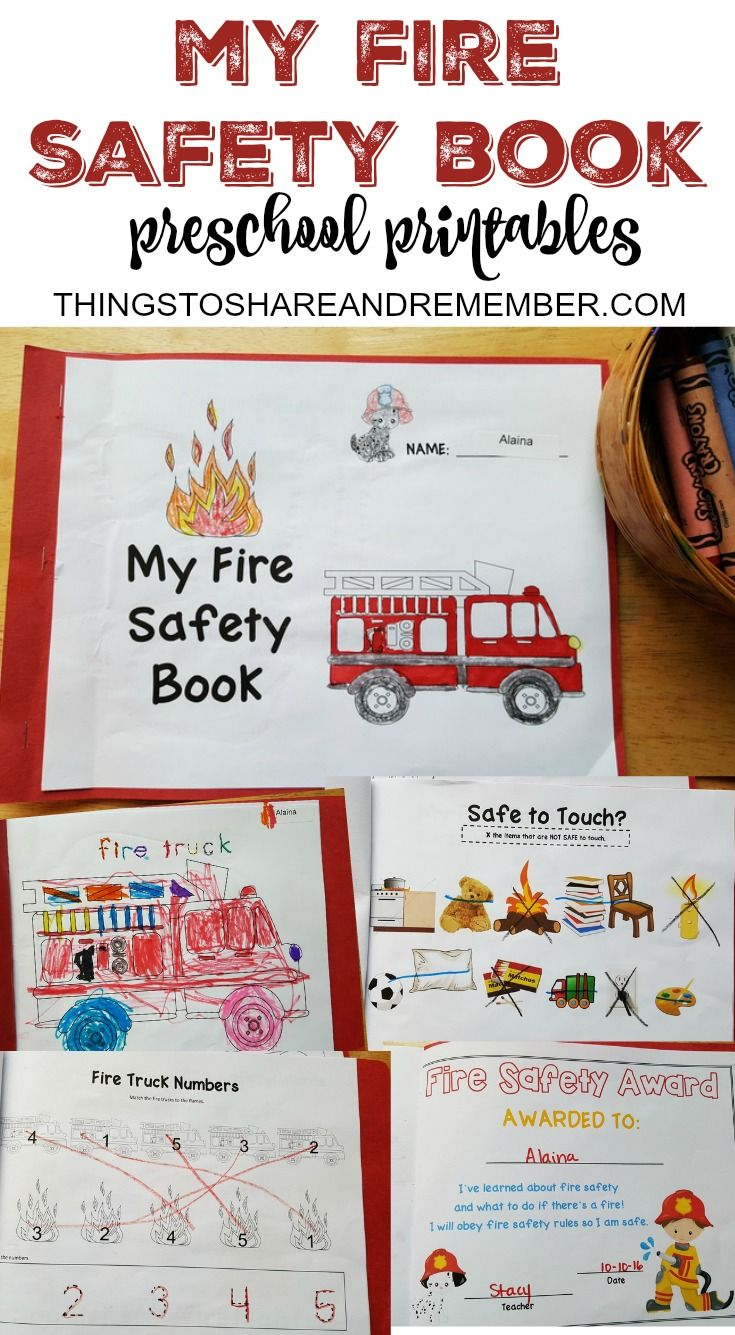 Preschool Fire Safety Booklet Printables Fire safety for