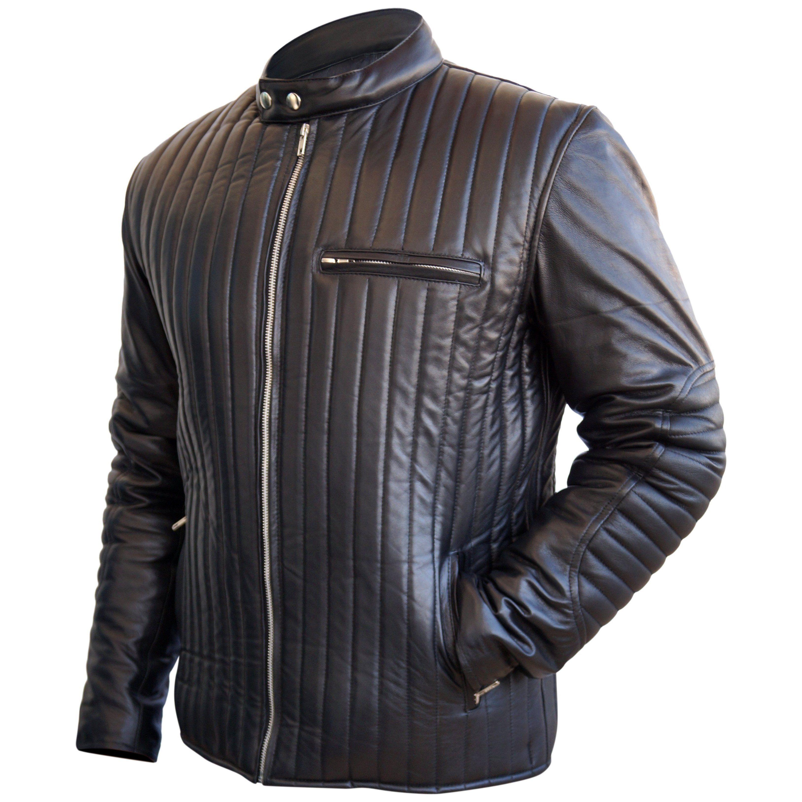 Leather Skin Men Black Rib Quilted Genuine Leather Jacket Stylish Leather Jacket Leather Jacket Men Men S Leather Jacket [ 3252 x 3252 Pixel ]