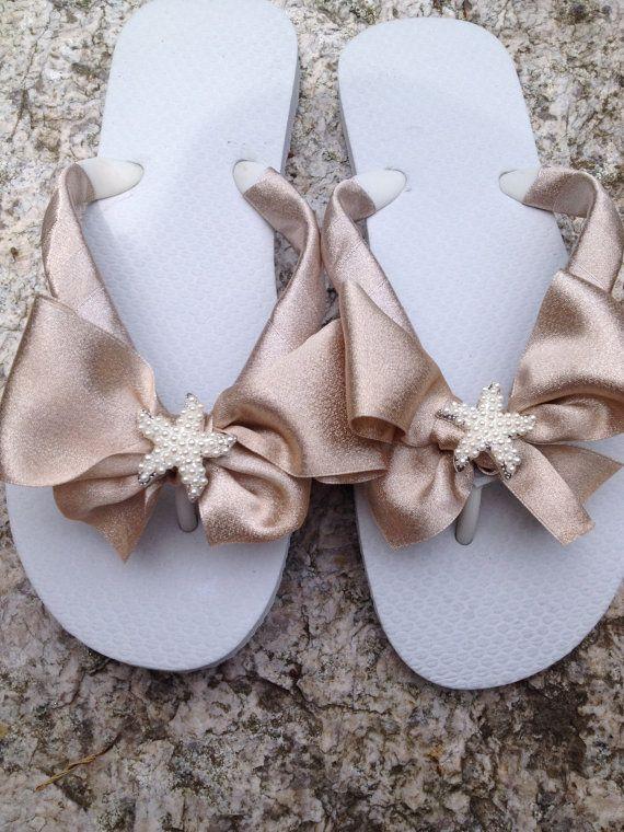 51b6fee56f060 Bridal Flip Flops.Beach Wedding Accessories.Bridal Bowz Flip Flops.Bling Flip  Flops.