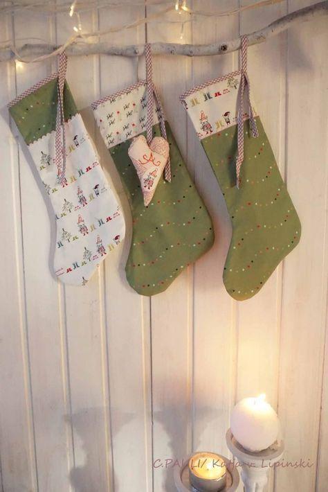 nähen für weihnachten adventsstiefel  nähen weihnachten