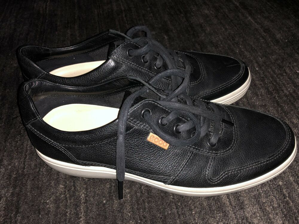 094c61067134c Ecco Danish Design Black Leather Mens Sneakers Shoes Size 44 Extra Width  #fashion #clothing #shoes #accessories #mensshoes #casualshoes (ebay link)