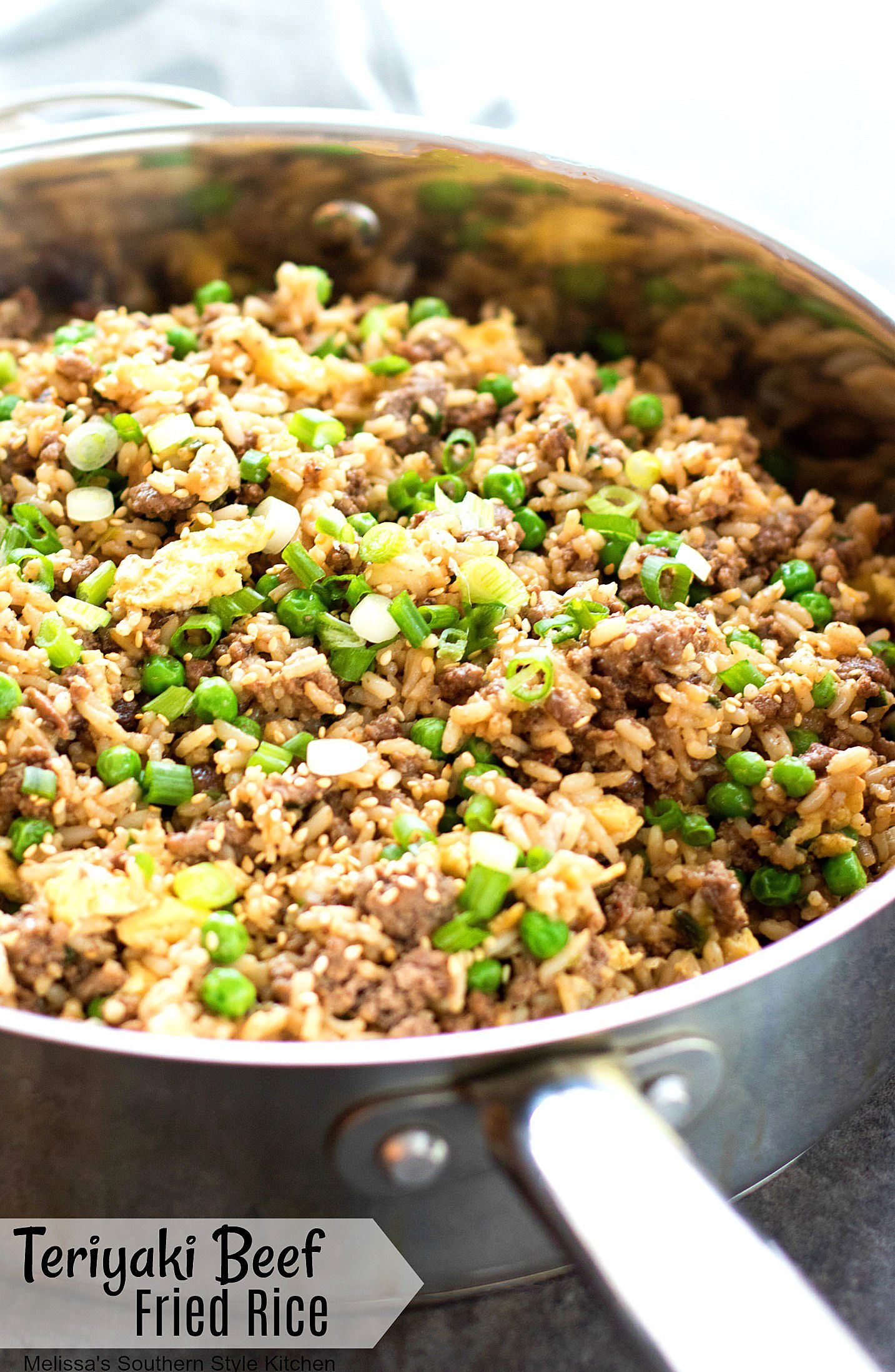 This Super Simple And Tasty Teriyaki Beef Fried Rice Is A Skillet Meal In The Making Lean Ground B Quick Ground Beef Recipes Beef Fried Rice Beef Recipes Easy