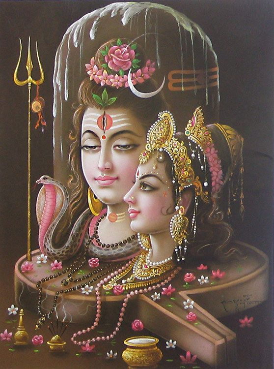 lord shiva and parvati reprint on paper unframed ideas for the house pinterest lord. Black Bedroom Furniture Sets. Home Design Ideas