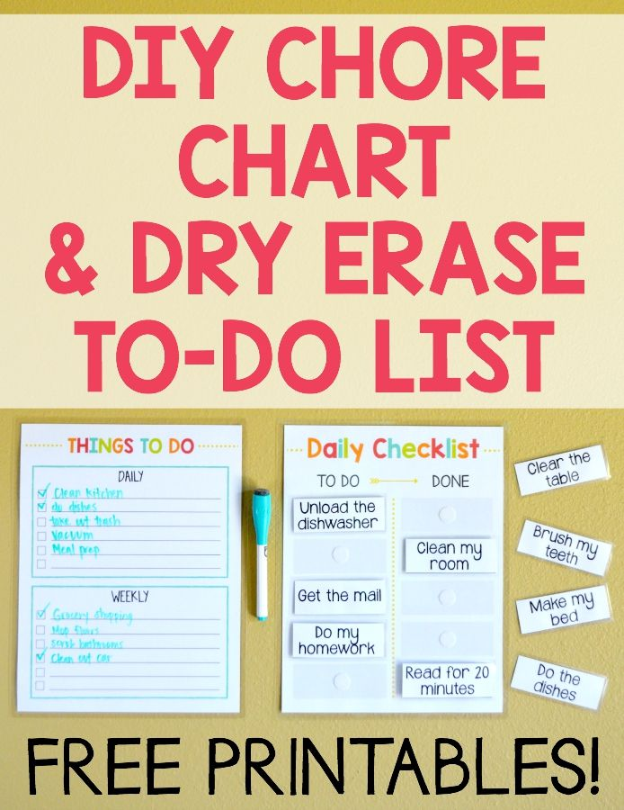 Free Diy C Chart Dry Erase To Do List