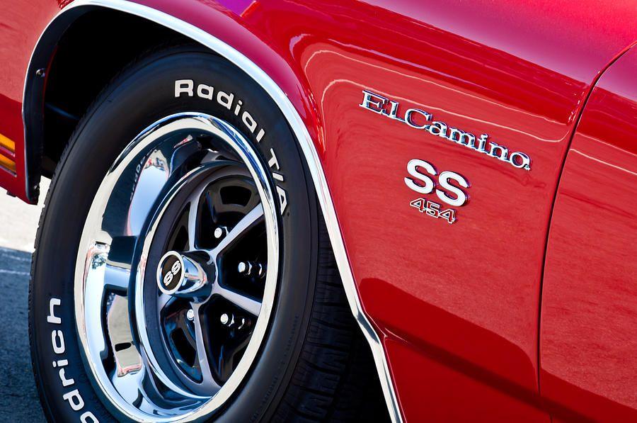 1970 Chevrolet El Camino Ss 454 Ci Wheel Emblem  Wheels Featured