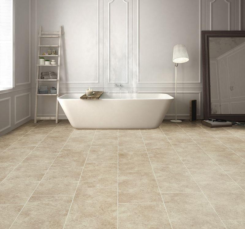 Waterdichte badkamervloer met natuursteen look - pvc van Moduleo ...