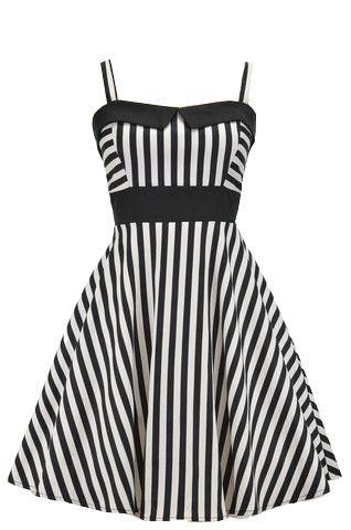 Black And White Striped Retro Swing Dress Retro Swing Dresses Elegant White Dress Dresses