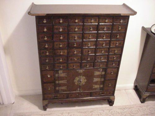 49 Drawer Antique Chinese Medicine Chest Pharmacy Apothecary ...