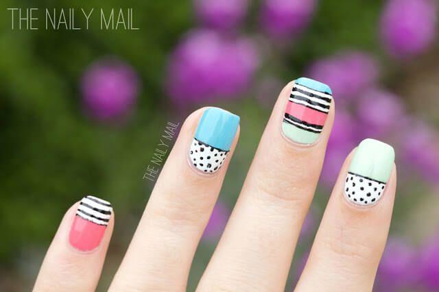30 Playful And Beautiful Nail Art Designs For Spring Black Nail