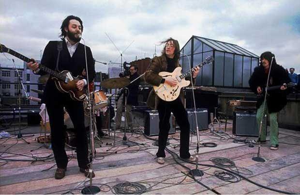 El último concierto de The Beatles en la azotea de Apple Corps, 30 de Enero de 1969