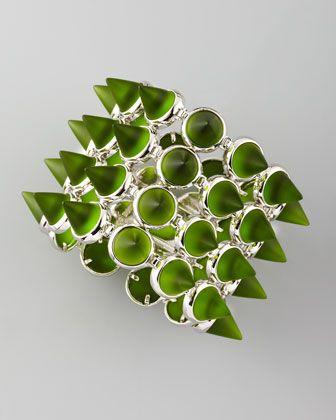 Four-Row Glass Cone Bracelet by Eddie Borgo