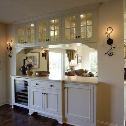 Traditional kitchen pass through design ideas pictures remodel and decor kitchens for Pass through kitchen ideas