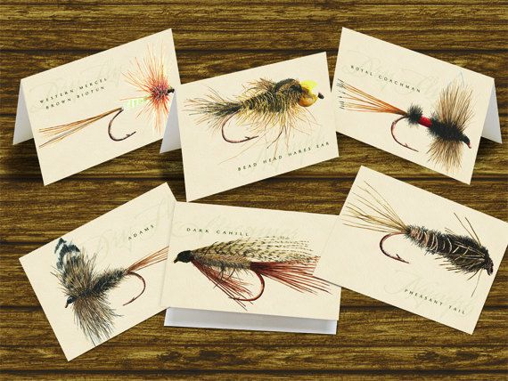Outdoors cards fly fishing note cards by ceceliajane on for Fly fishing decor