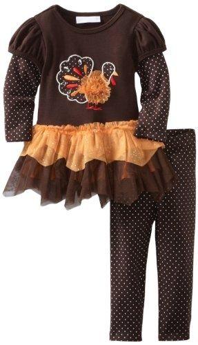 girls bonnie baby | Bonnie Baby-Girls Infant Turkey Applique Tutu Legging ... | ~ my BB y ...