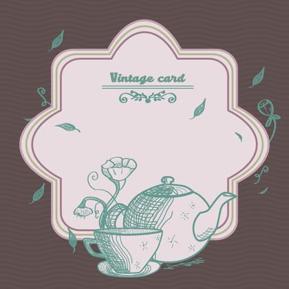 coffee bar vintage card