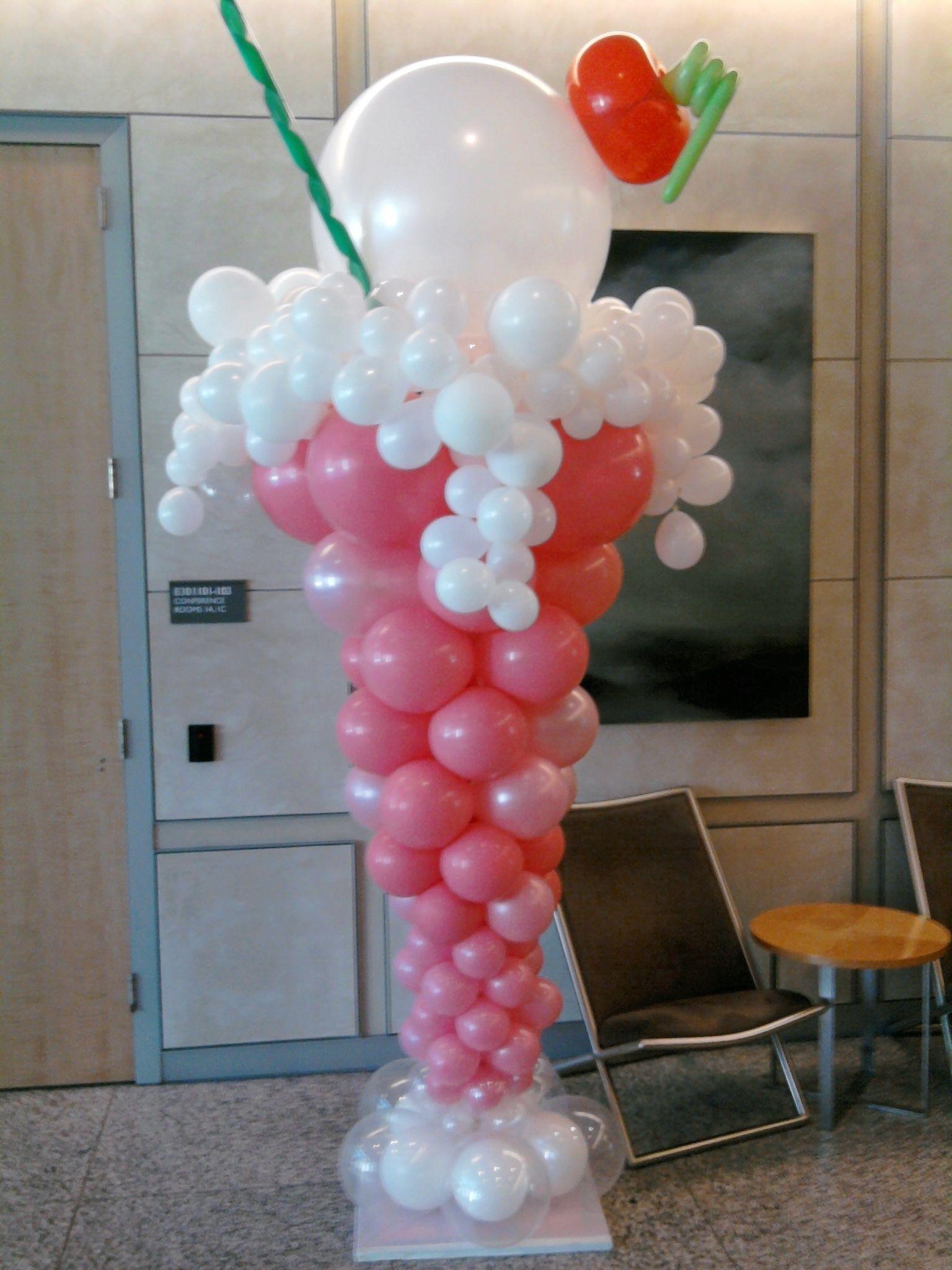 Ice cream sundae anyone fun and creative pinterest balloon columns candyland and birthdays