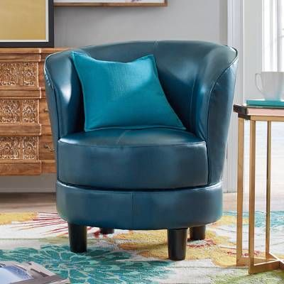 Rebecca Is Just One Of Our Stylish Ways To Maximize A Modest Space. Grandin  Road Editors Expensive Bonded Leather Swivel Chairs Are Brought Down ...