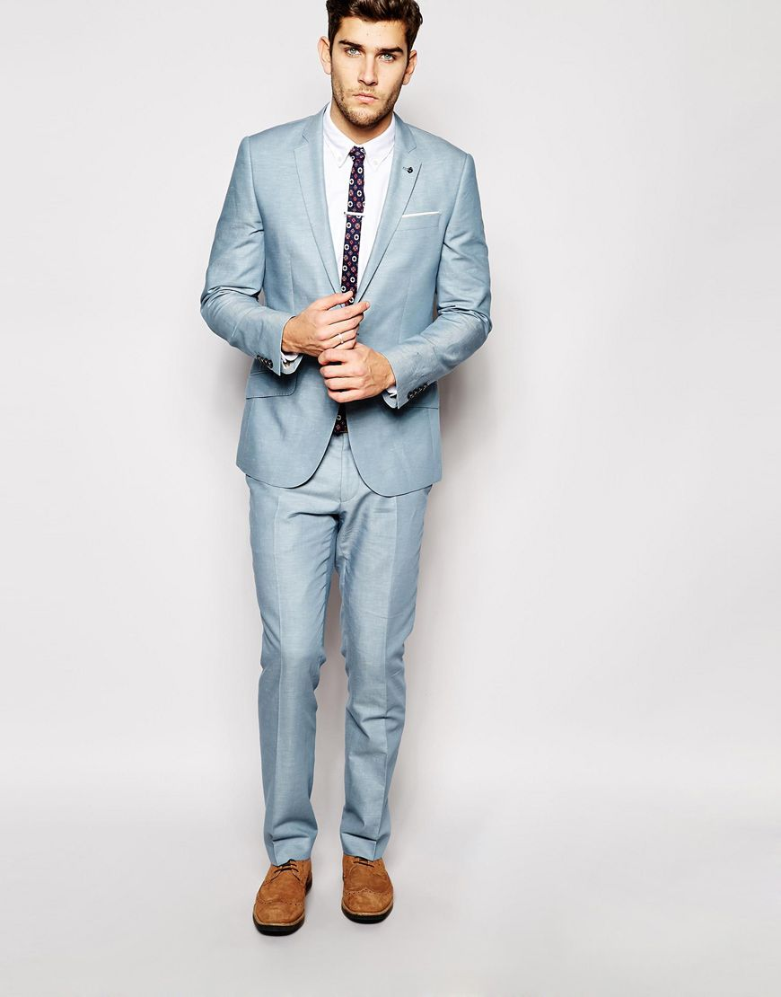 River+Island+Pale+Blue+Suit+in+Slim+Fit+ | style/mode | Pinterest ...
