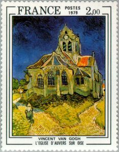 The Church At Auvers Hidden Image