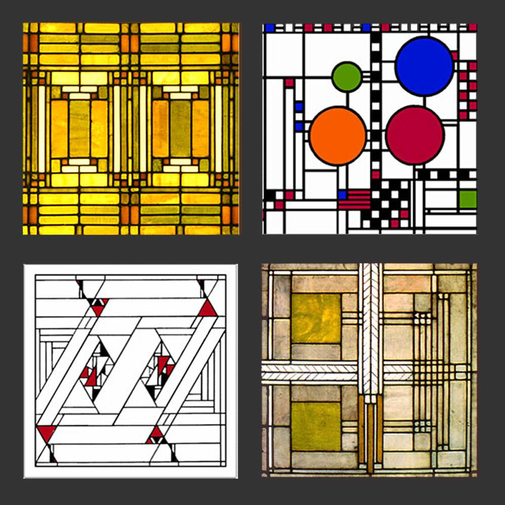 Frank Lloyd Wright Gl Designs Coasters Gift Set 1