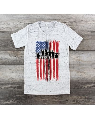 e97ca2c1 Military Memorial American Flag Tee Shirt Patriotic T-Shirt | The Crawford  Farmstead | Shirts, American flag, T shirt