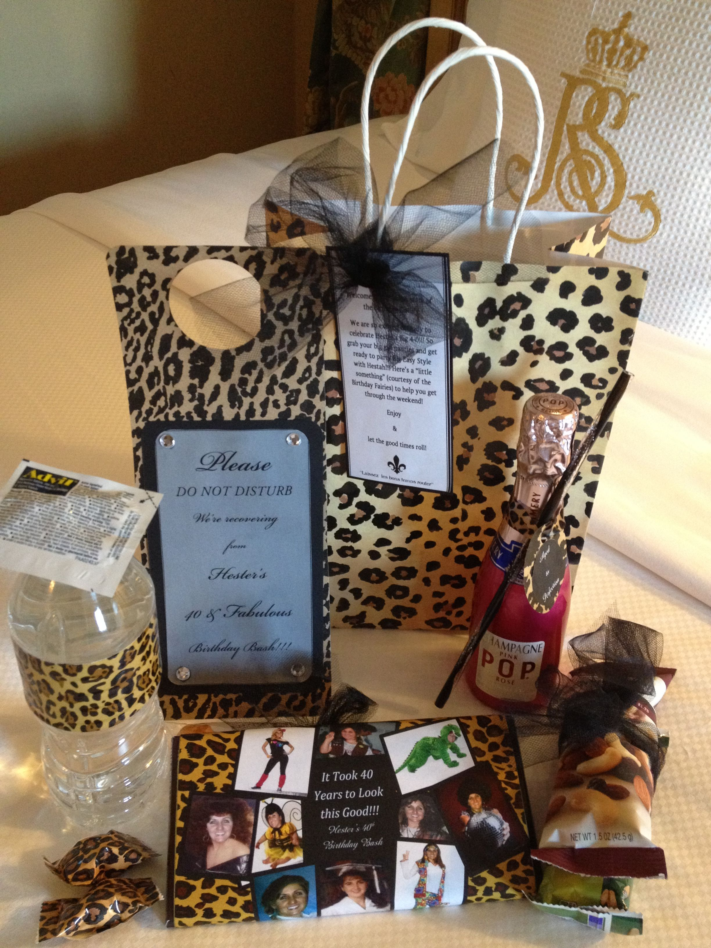 40th Birthday Cougar Girls Weekend Welcome Bag