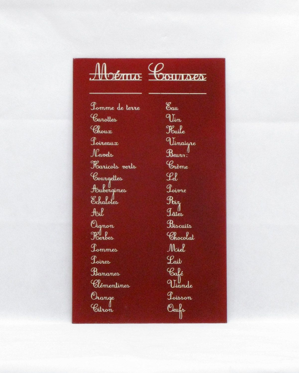 3ce7af3ed0622 French Shopping List Memo, French Metal Shopping List Memo, Wall Hanging  Shopping List Memo - Vintage French Shopping Memo (4330) - pinned by  pin4etsy.com