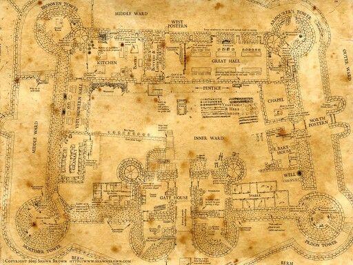 Hogwarts Map Poudlard Harry Potter Les Maraudeurs