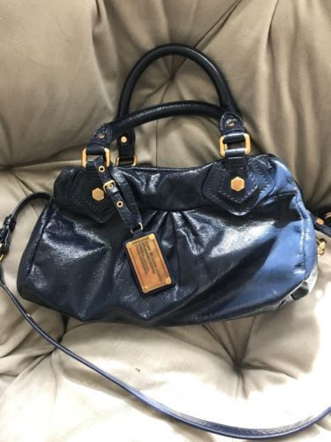 5e4368c086ce Marc By Marc Jacobs Classic Q Baby Groovee Leather Bag Bright navy ...