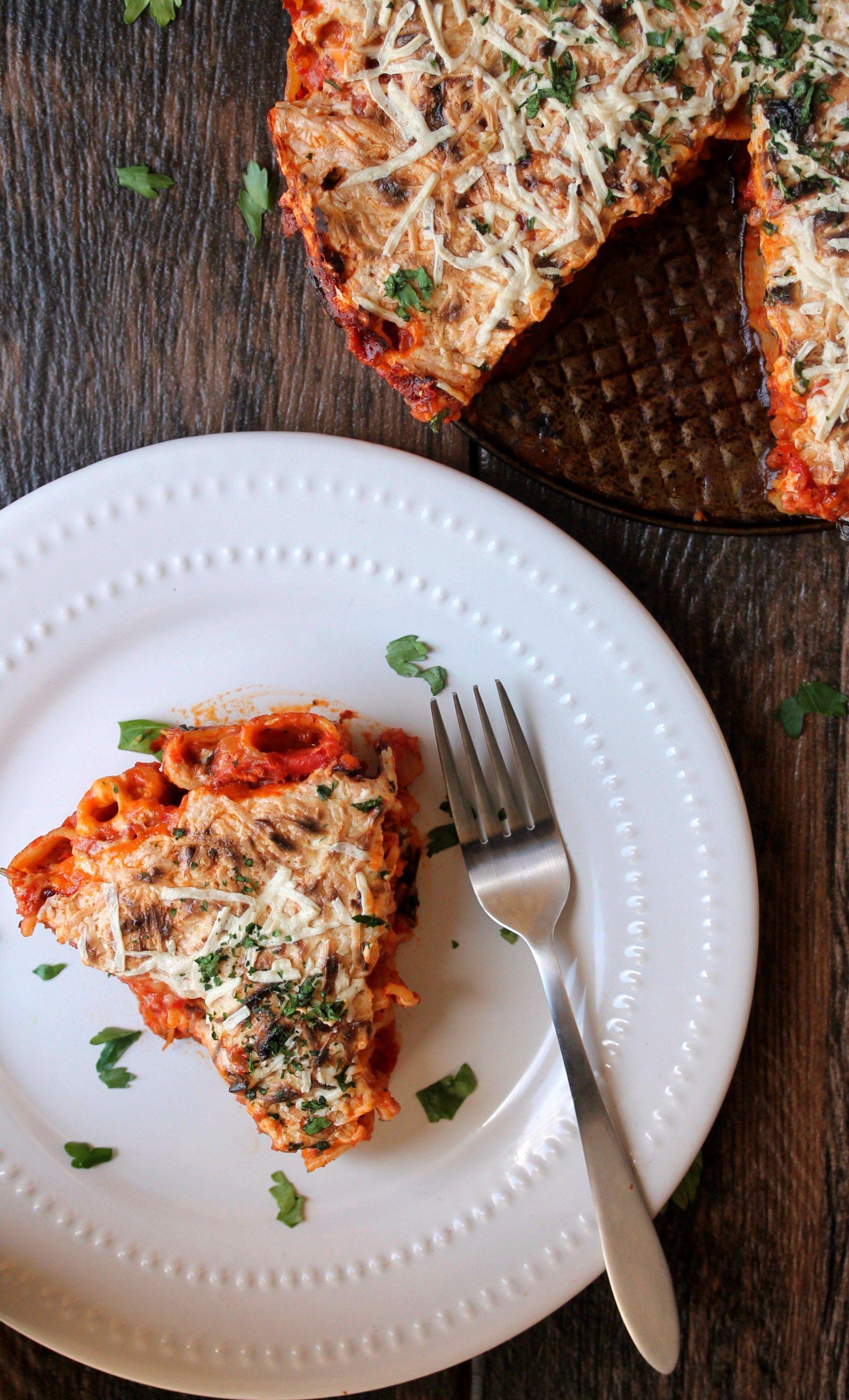 Rigatoni Pasta With Spicy Pomodoro Sauce Vegan