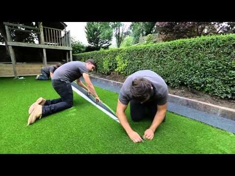 Realgrass At Home Depot Synthetic Artificial Turf Installation Youtube Artificial Grass Installation Turf Installation Artificial Turf