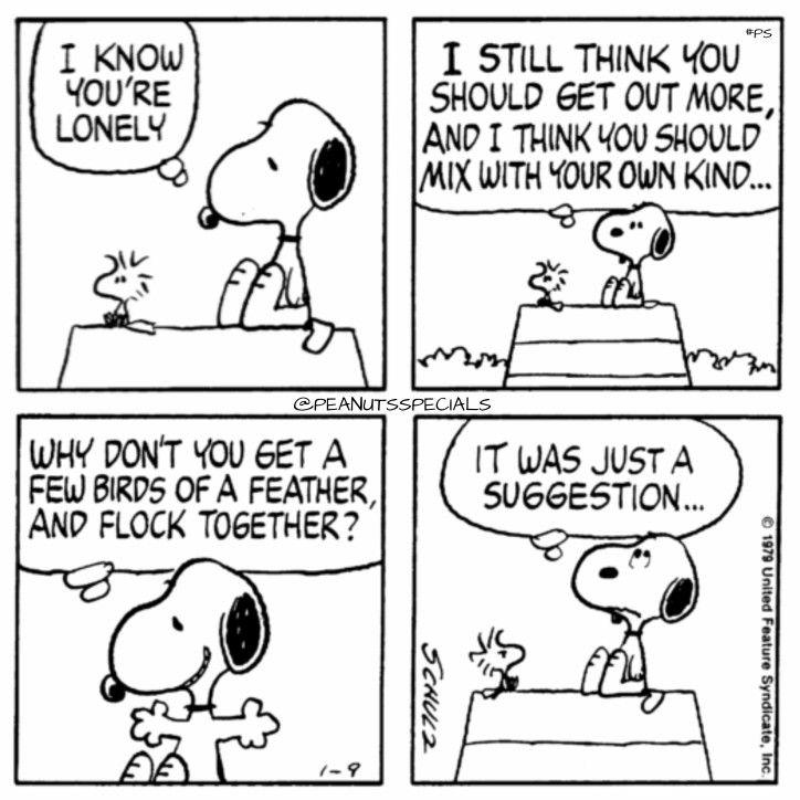 Origanal peanuts comic strip appearence