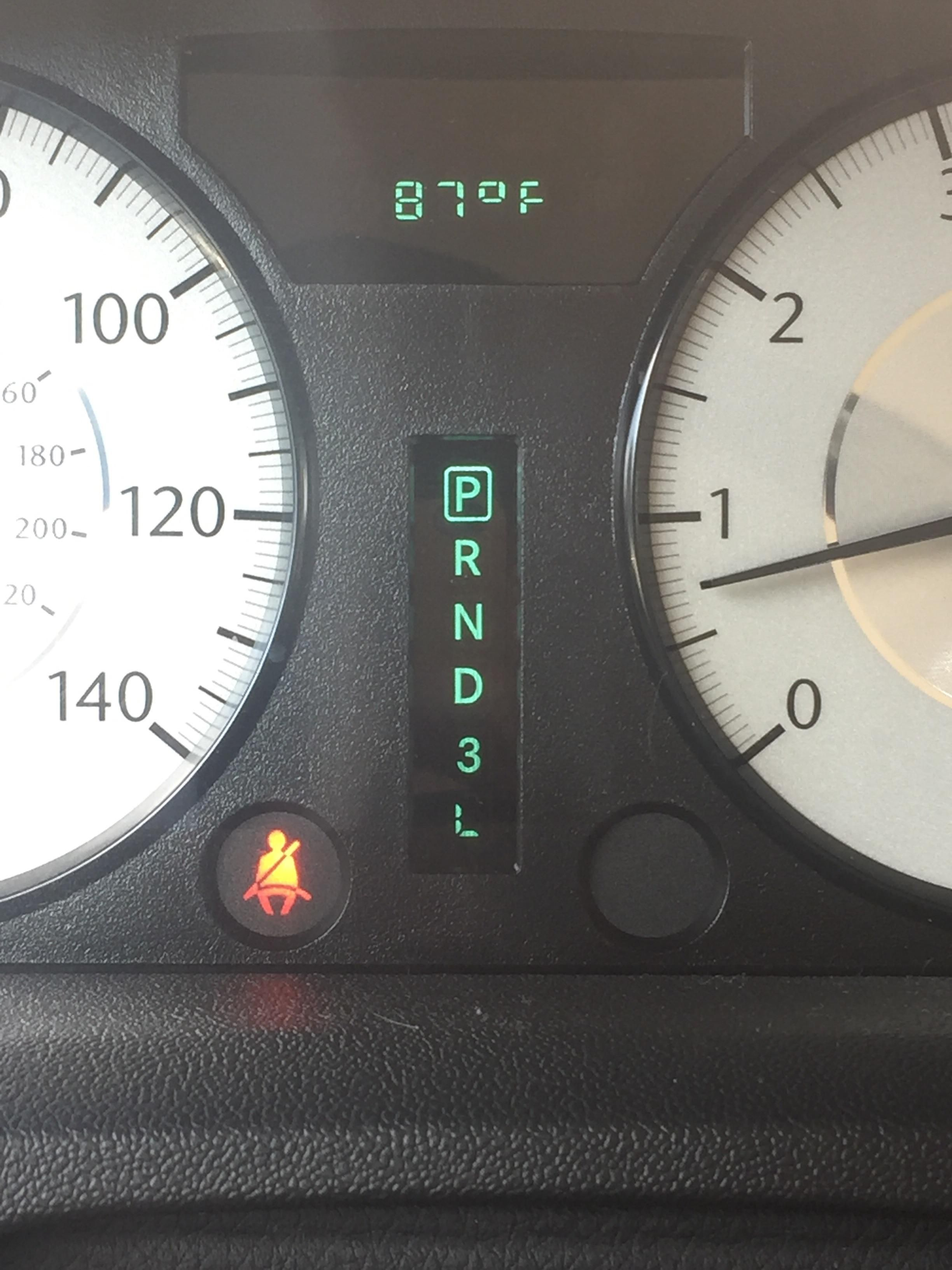 The L is in a different font than the rest of the gears on my car