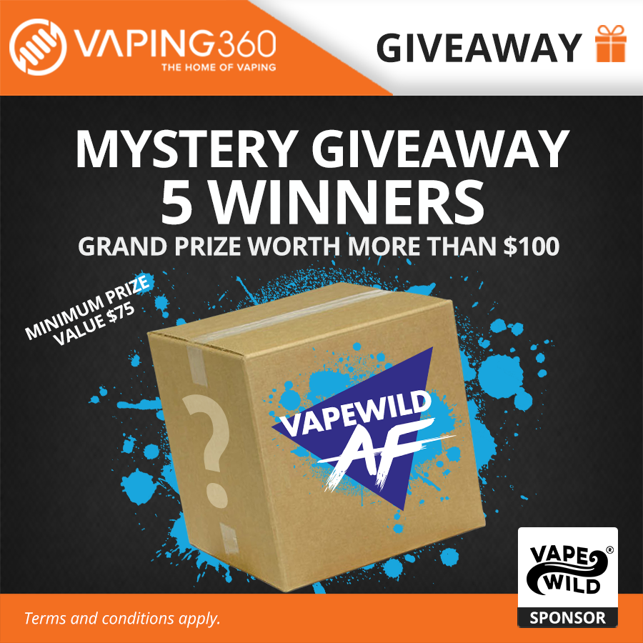 Win Free Vape Juice, Vapes and Giftcards with our Weekly